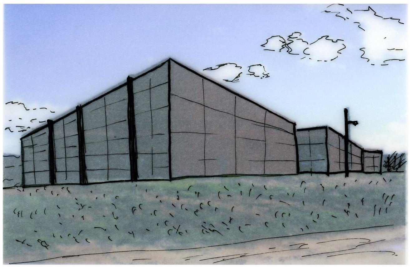 Ecole nationale supérieure d'architecture de Montpellier - Dessin réalisé par CLAUDINOT Marie