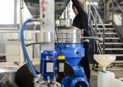 Centrifugation permettant d'éliminer  les particules pouvant créer un dépôt