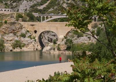 La plage du Pont du Diable dans l'Hérault