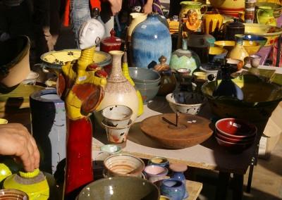 Vente de poteries à St-Jean de Fos