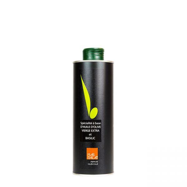Bouteille d'huile d'olive aromatisée Basilic 50CL