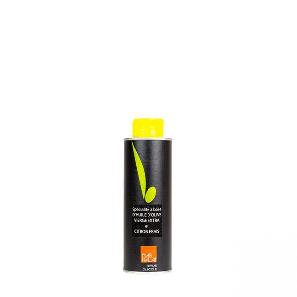 Bouteille d'huile d'olive aromatisée citron 25CL