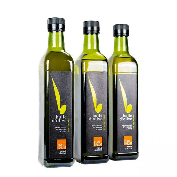 Coffret cadeaux de bouteilles d'huile d'olive