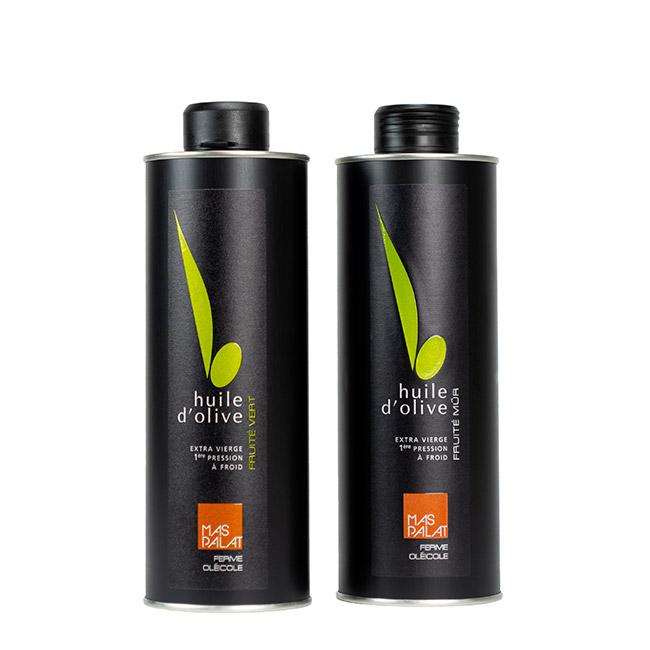 Coffret cadeau de bouteilles d'huile d'olive